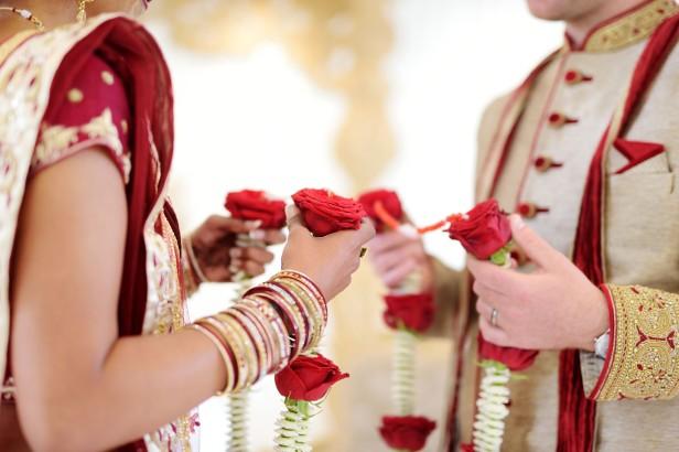 Amazing Hindu Wedding Ceremony. Details Of Traditional Indian We