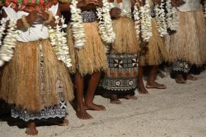 Indigenous Fijian People Sing And Dance In Fiji